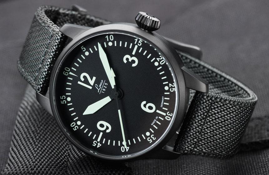 61e8f39baab Laco Bell X1 Automatic Pilot Watch Black Pvd Case Shire Crystal