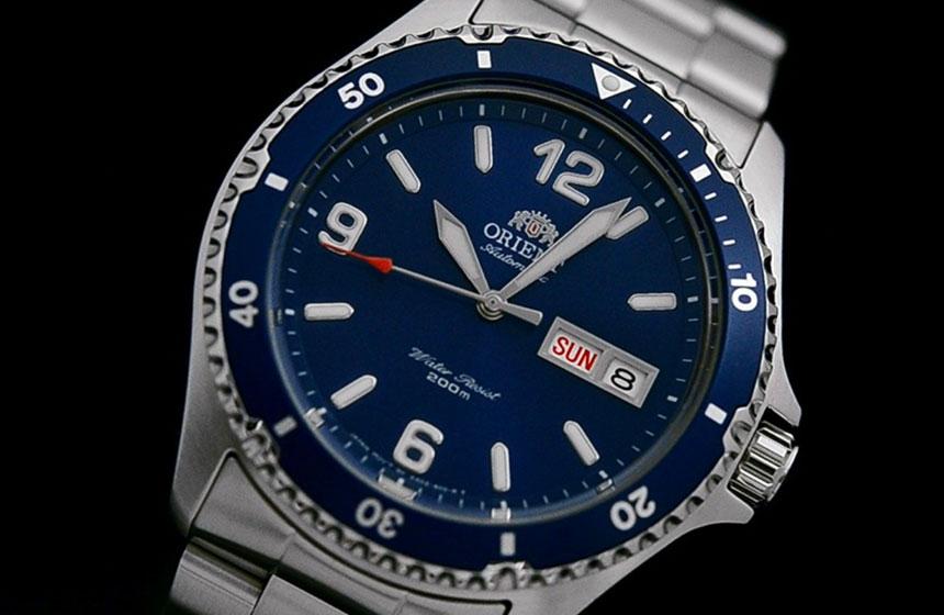 orient blue mako ii automatic hand wind hacks dive watch